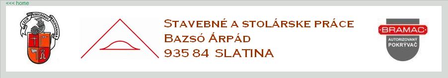 Stavebné a stolárske práce Árpád Bazsó logo