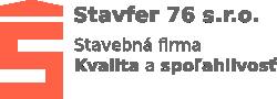STAVFER 76 s.r.o. - Stavebná firma logo