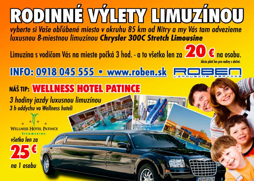 Rodinné výlety limuzínou - ROBEN - TRANS, s.r.o.